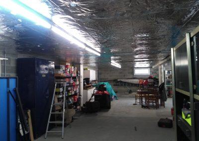 Isolation d'un plancher bas de 90m2 à Boisseuil